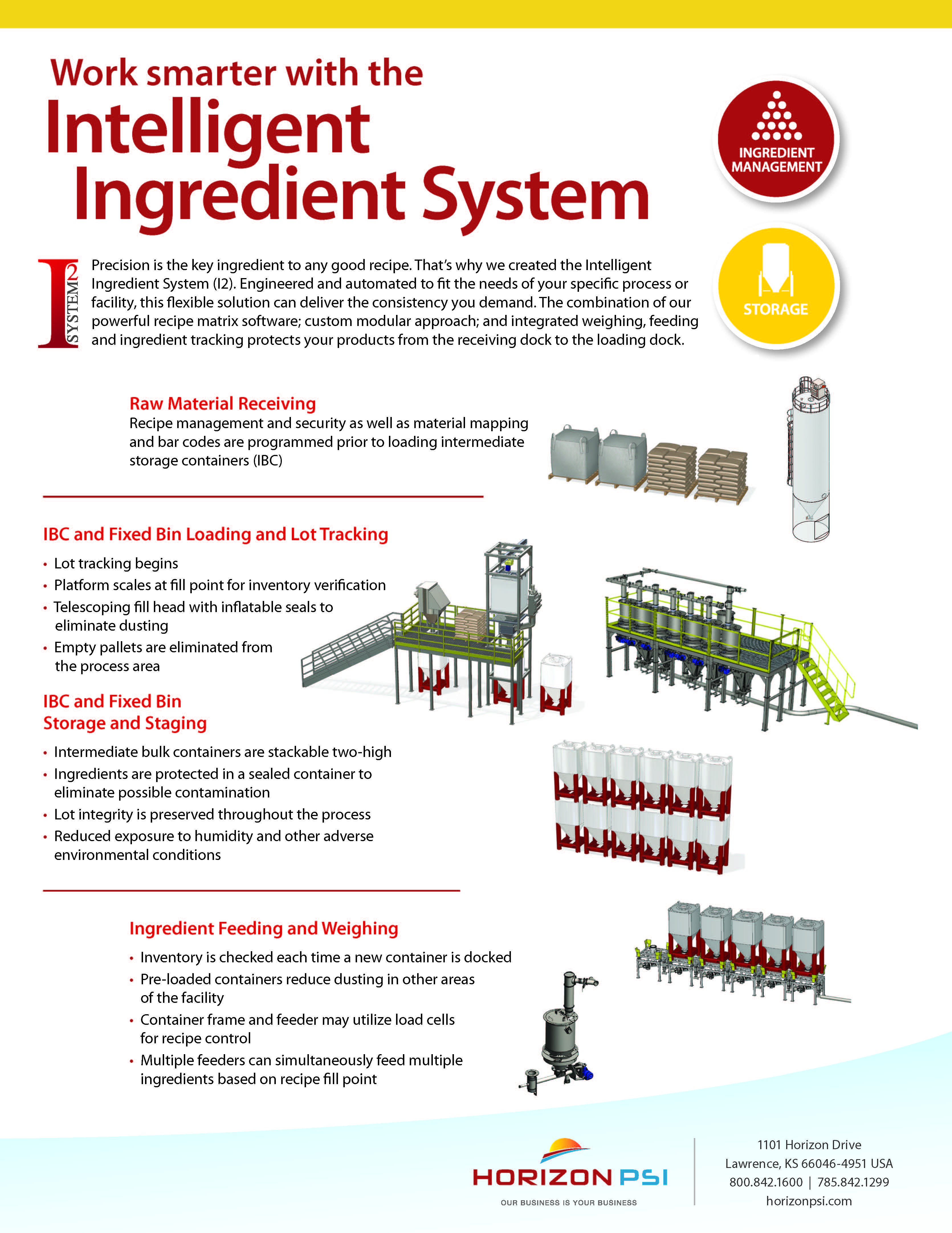 Image of Intelligent Ingredient System Product Sheet